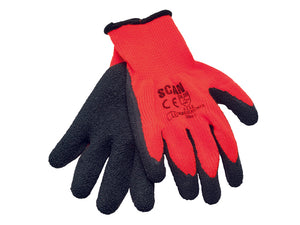 Scan Hi-Vis Latex Thermal Gloves (Pack of 5 Pairs)