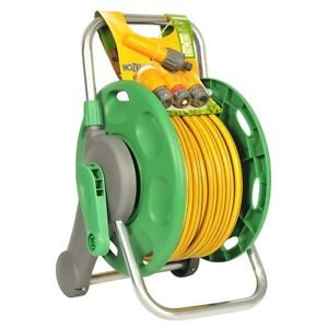 Hozelock 45m Reel 2-In-1 Plus 25M Hose & Fitting