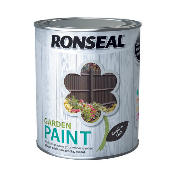 Ronseal Garden Paint 750ml English Oak