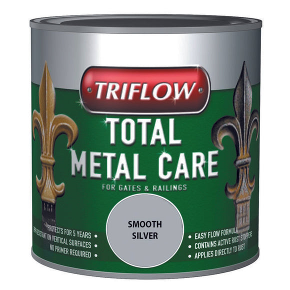 Triflow Metal Care For Gates & Railings 500ml Silver Smooth