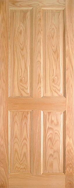 Indoors Lawrence Pre-Fin Oak 4-Panel Engd Door 78X24