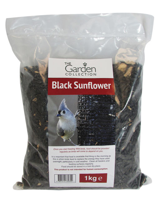 1kg Black Sunflower Seed Bag