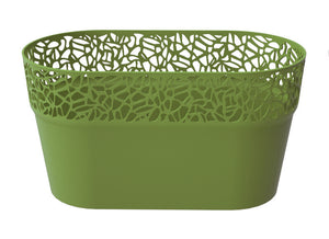 Laser Cut Planter Oval Green