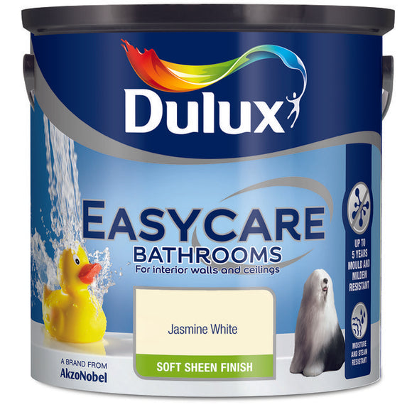 Dulux Easycare Bathrooms Jasmine White 2.5L