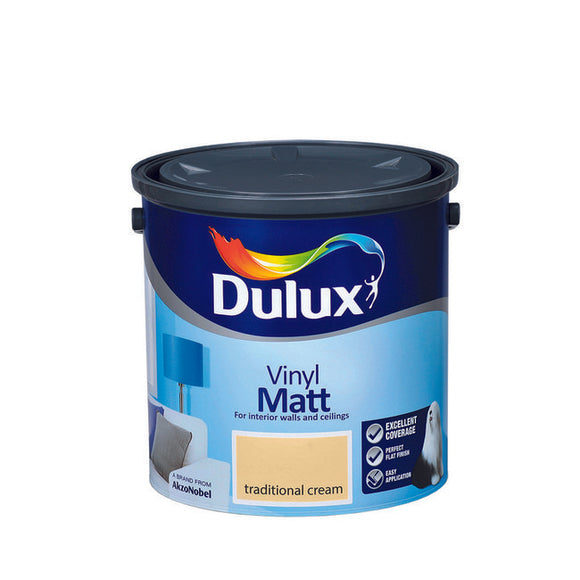 Dulux Vinyl Matt Traditional Cream  2.5L