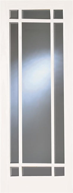 Indoors Primed Gibson 9 Lite Bevel Glazed Door 80X32