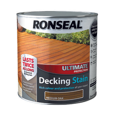 Ronseal Decking Stain Ultimate Protection 2.5L Medium Oak