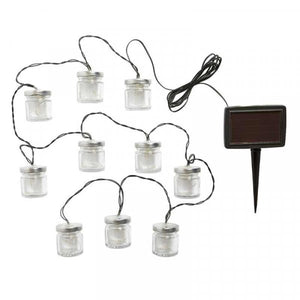 Firefly Jar String Lights - 10 Jars Solar