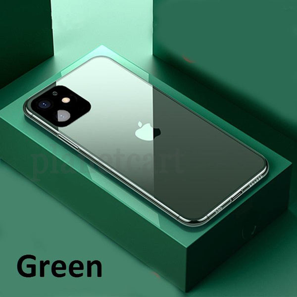 Special Edition Glossy Glass Silicone Soft Edge Case For iPhone 11