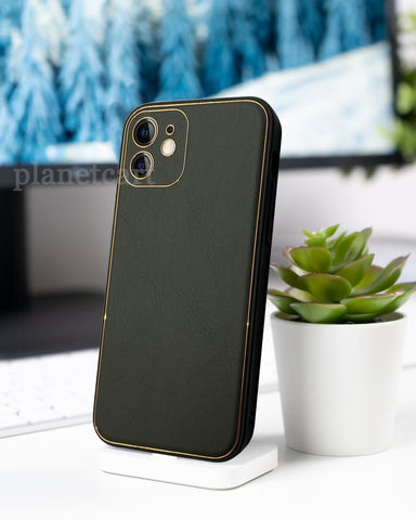 Swag Leather Textured Silicon Case For iPhone 12 Series