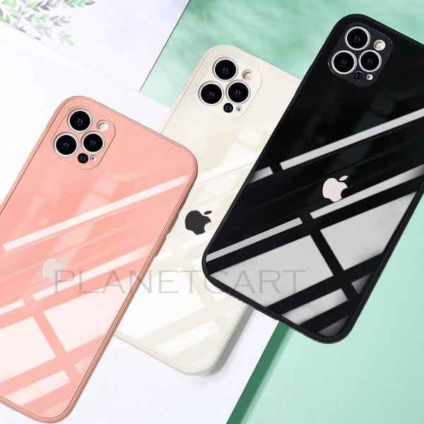 Special Edition Glossy Silicone Soft Edge Back Case with Camera Protection For iPhone 12 series