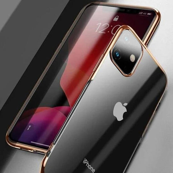 Baseus Ultra-Thin Transparent Sparkling Edge Case For iPhone 11 - Planetcart