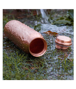 Copper Water Bottle For Daily Use/Yoga/Gym Capacity - 1000 Ml - Set of 1