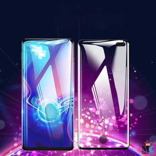 5D Tempered Glass Screen Protector [ with in display Finger Print Sensor ] Case For Samsung Glaxy S10 Plus