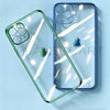 Luxury Square Silicon Clear Case With Camera Protection For iPhone 12 Pro