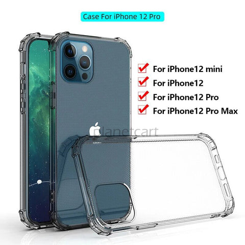 King Kong Silicone Transparent Bumper Soft Case Cover For iPhone 12 Series