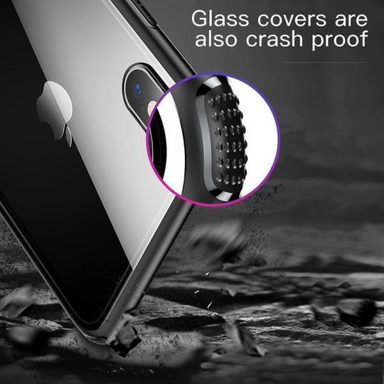 Baseus Ultra Slim Glass TPU Frame Case For iPhone XS Max - Planetcart