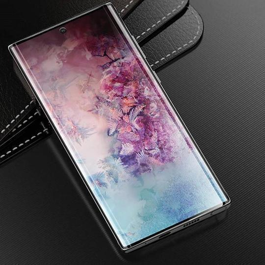 Baseus Curved Full Screen Tempered Glass Screen Protector Case For Samsung Note 10 Plus - Planetcart