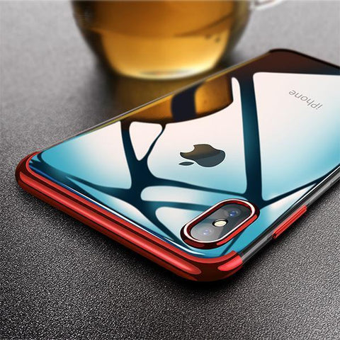 Baseus Ultra Thin Glitter Transparent Silicon Case For Iphone X/XS - Planetcart