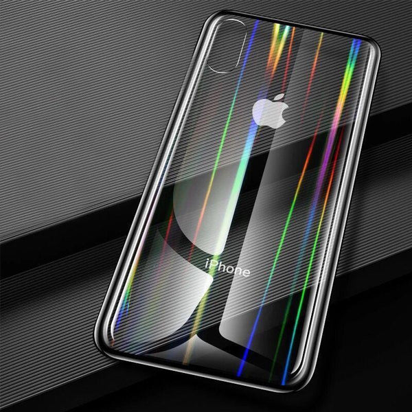 Baseus Ultra Thin Rainbow Aurora Transparent Glass Case For Iphone X/XS - Planetcart