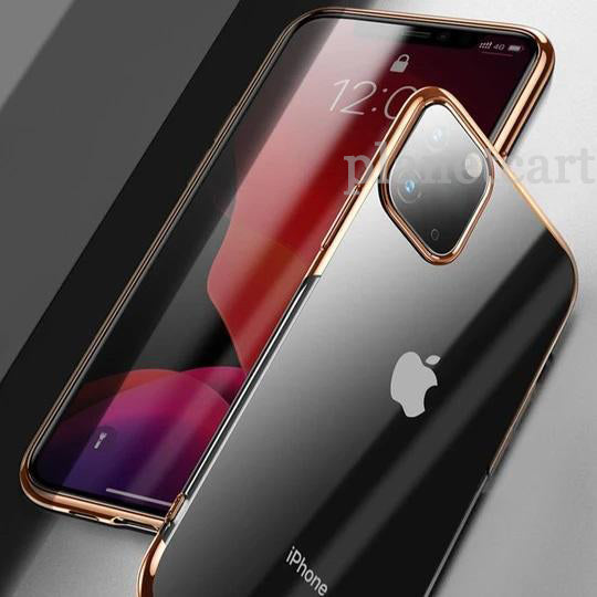 Baseus Ultra-Thin Transparent Sparkling Edge Case For iPhone 11 Pro