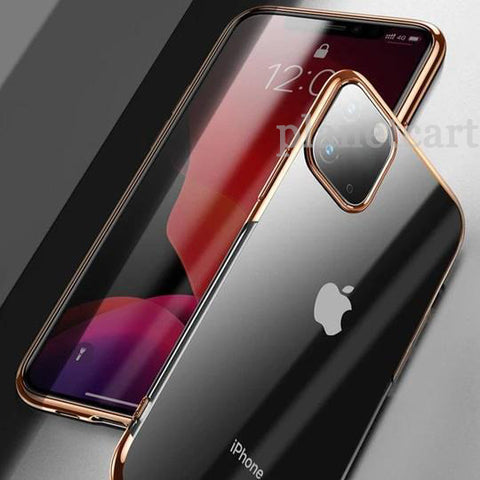 Baseus Ultra-Thin Transparent Sparkling Edge Case For iPhone 11 Pro - Planetcart