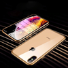 Electronic Auto Fit Front +Back Glass Magnetic Case [ Non Sensor Working ] For iPhone XS Max