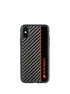 Audi Q8 D1 Genuine Carbon Fiber R8 D1 Limited Edition Case For iPhone X/XS - Planetcart