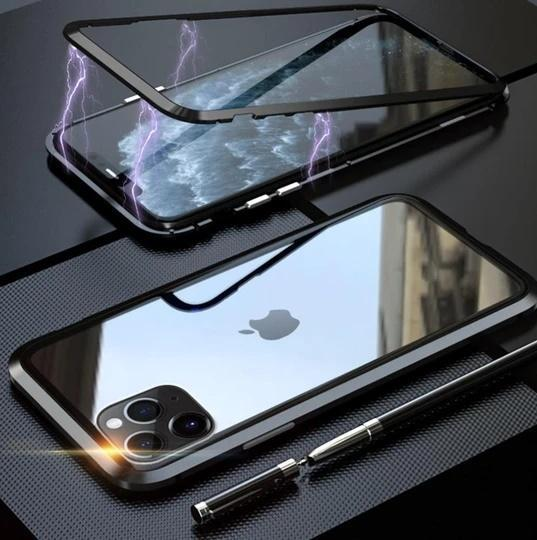 Electronic Auto-Fit Magnetic Glass Case For iPhone 11 Pro - Planetcart