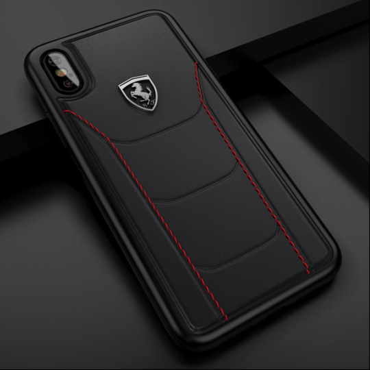 Ferrari Genuine Leather Crafted Limited Edition Case For iPhone XS Max - Planetcart