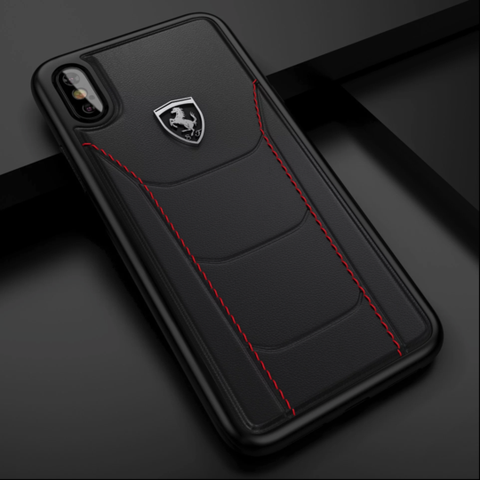 Ferrari Genuine Leather Crafted Limited Edition Case For iPhone XS Max