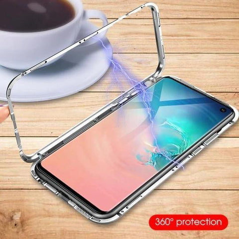 Electronic Auto Fit Magnetic Glass Case For Samsung Glaxy S10 Plus