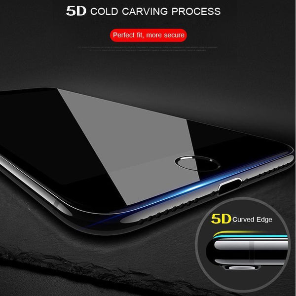 iPhone 8 Plus 5D Tempered Glass Screen Protector - Planetcart