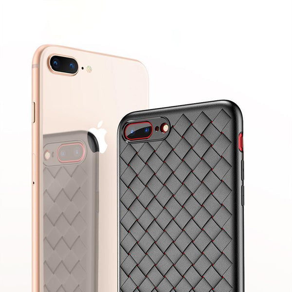 Luxury Ultra Thin Grid Weaving Case For iPhone 7 Plus