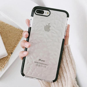 iPhone 8 Diamond Geometric Luxury Transparent Case - Planetcart
