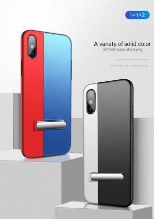 Auto-Fit Magnetic Contrast Colour Kickstand Case For iPhone X/XS