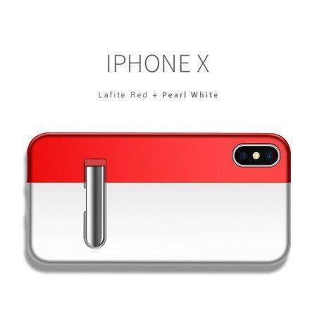 Auto-Fit Magnetic Contrast Colour Kickstand Case For iPhone X/XS - Planetcart