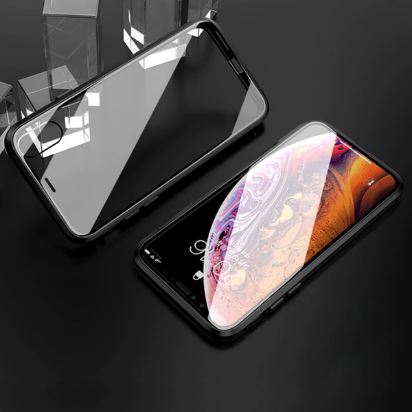 Double Sided Tempered Glass Magnetic Case  iPhone XR - Planetcart