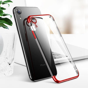 High-end Fashion Transparent Case For  iPhone XR - Planetcart