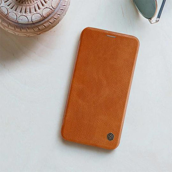Qin Genuine Leather Flip Case For iPhone XS Max