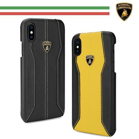 Lamborghini Genuine Huracan D1 Leather Crafted Limited Edition Case For iPhone X/XS - Planetcart
