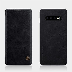 NILLKIN ® SAMSUNG GALAXY S10E GENUINE QIN LEATHER FLIP CASE - Planetcart