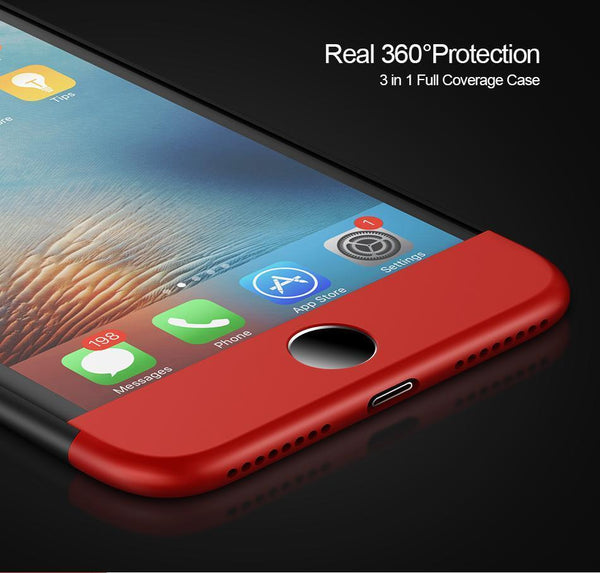 iPhone 7 Full 360 Protection Hard Phone Case - Planetcart