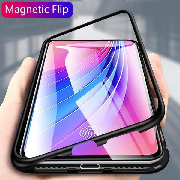 Redmi Note 7 Pro Electronic Auto-Fit Magnetic Glass Case