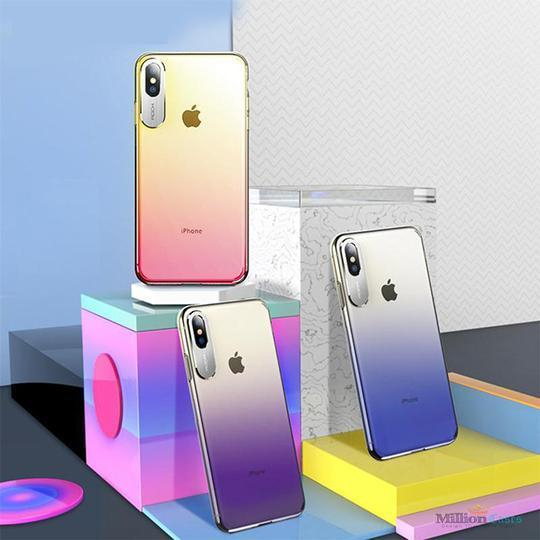 Rock Aura Gradient Glaze Back Case For iPhone XS Max - Planetcart