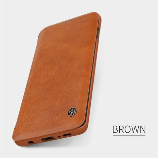 Genuine Qin Leather Flip Case For Samsung Glaxy S10 Plus