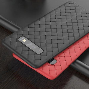 Ultra Thin Grid Weaving Case For Samsung Glaxy S10 Plus - Planetcart