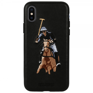 SANTA BARBARA POLO & RACQUET ® APPLE IPHONE X/XS JOCKEY SERIES GENUINE LEATHER CASE - Planetcart