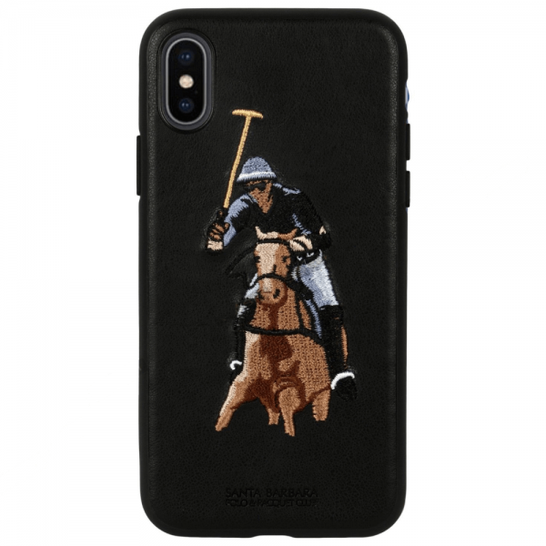 Santa Barbara jockey Series Genuine Leather Case For iPhone XS Max