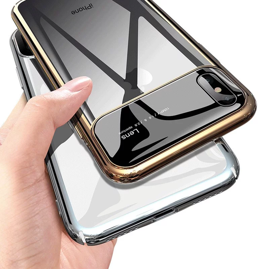 Totu Polarized Lens  Mirror Transparent Hard Case For iPhone XS Max - Planetcart